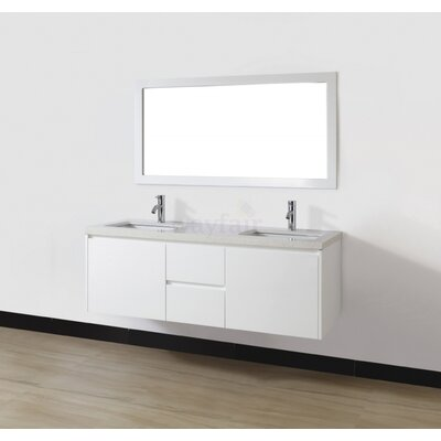 Bamos 60 Double Bathroom Vanity Set with Mirror