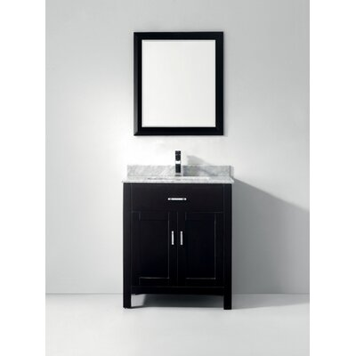 Celize 30 Single Bathroom Vanity Set with Mirror Base Finish: Espresso, Faucet Finish: No Faucet