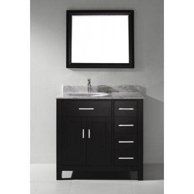 Celize 36 Single Bathroom Vanity Set with Mirror Base Finish: Espresso, Faucet Finish: No Faucet