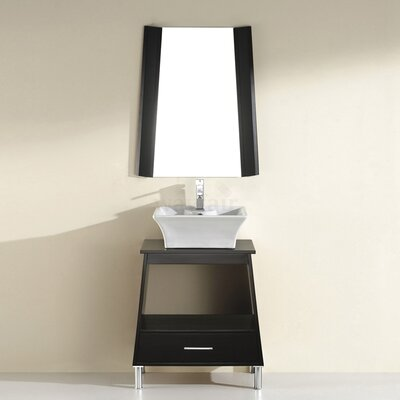 Phalero 30 Single Bathroom Vanity Set with Mirror Base Finish: Chai
