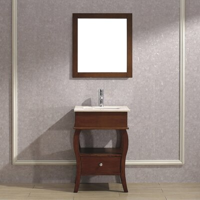 Winzer 24 Single Bathroom Vanity Set with Mirror Base Finish: Ceries Classique, Top Finish: Gala Beige