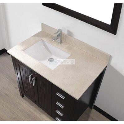 Jacchi 36 Single Bathroom Vanity Set with Mirror Base Finish: Chai, Top Finish: Gala Beige