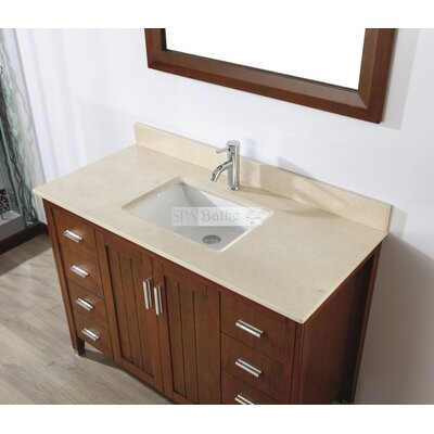 Jacchi 48 Single Bathroom Vanity Set with Mirror Base Finish: Ceries Classique, Top Finish: Gala Beige