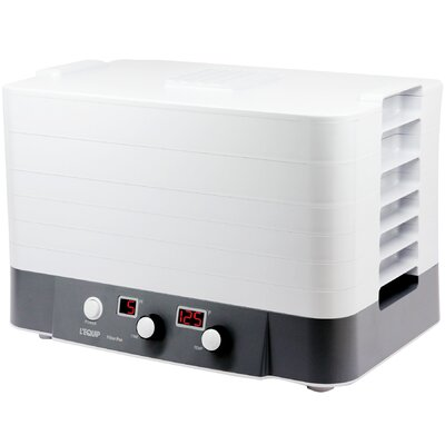 L'Equip Life in Healthy Balance FilterPro 6 Tray Electric Food Dehydrator With Yogurt Cups & Fruit Leather Trays