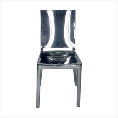 Low Price Emeco Hudson Dining Chair Finish: Hand Polished Aluminum, Upholstery: Black Vinyl