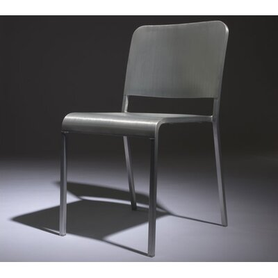 Picture of Emeco 20-06 Stacking Dining Chair Upholstery: Fire Retardant Foam, Back Pad: Black Vinyl in Large Size