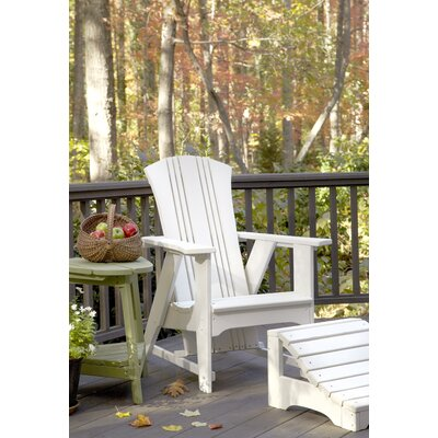 Uwharrie Carolina Preserves Adirondack Chair and Ottoman - Finish: Apple Green (Distressed)