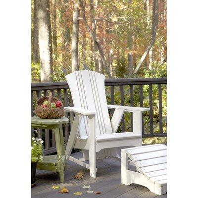 Uwharrie Carolina Preserves Adirondack Chair and Ottoman - Finish: Olive Gray Wash