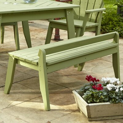 Uwharrie Plaza Picnic Bench - Size: 3 Seat, Finish: Coffee (Distressed)