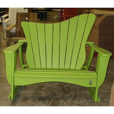 Uwharrie Wave Settee Rocking Chair - Finish: Sunshine Yellow Wash, Style: Right-Side Facing