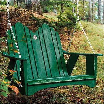 Uwharrie Original Porch Swing - Finish: Apple Green (Distressed)