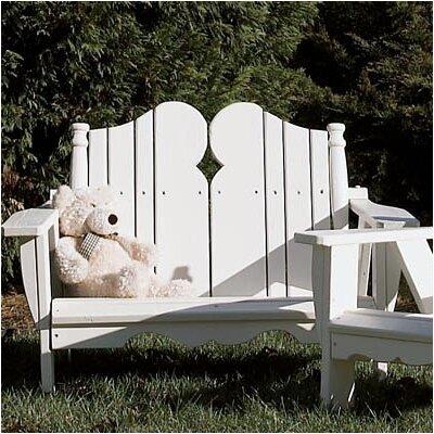 Uwharrie Nantucket Kid's 2 Seater Adirondack Chair - Finish: Flamingo (Distressed)