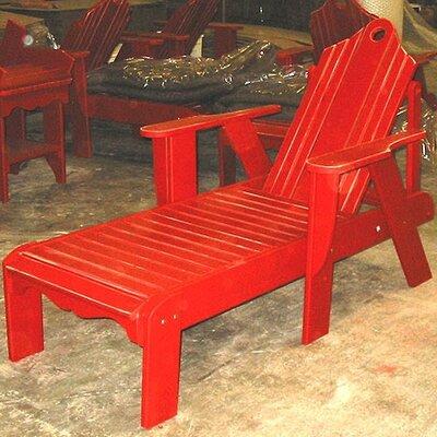 Uwharrie Bridgehampton Chaise Lounge - Finish: Caribbean Blue Wash, Adjustable Seat: No