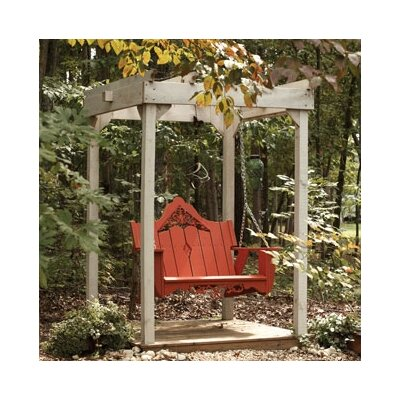 Uwharrie Veranda Porch Swing - Finish: Black Pristine