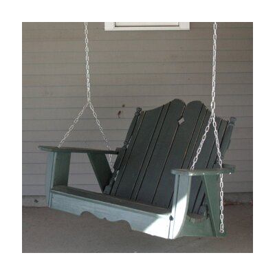 Uwharrie Nantucket Porch Swing - Finish: Blackwash, Size: 4'