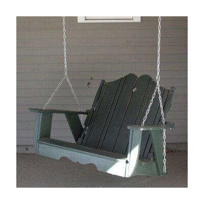 Uwharrie Nantucket Porch Swing - Finish: Apple Green Wash, Size: 4'