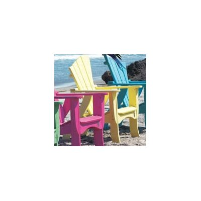 Uwharrie Wave Adirondack Chair - Style: Right-Side Facing, Color: Canary Yellow (Distressed) at Sears.com
