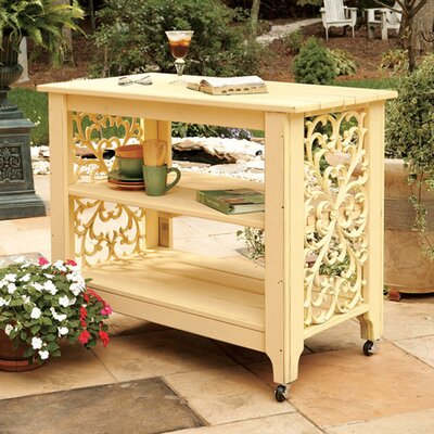 Veranda Serving Island Server Color: Sunshine Yellow Wash