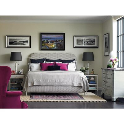 Charleston Regency Upholstered Panel Bed Size: California King