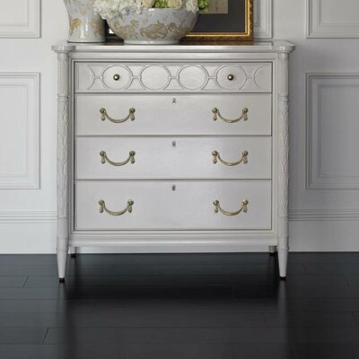 Charleston Regency 4 Drawer Chest Color: Ropemakers White