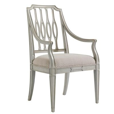 Charleston Regency Upholstered Dining Chair Frame Color: Gray Linen