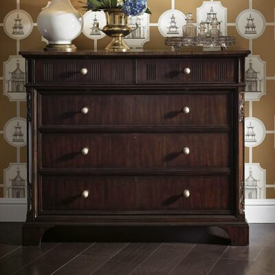 Charleston Regency-Franklin 5 Drawer Media Chest Finish: Classic Mahogany