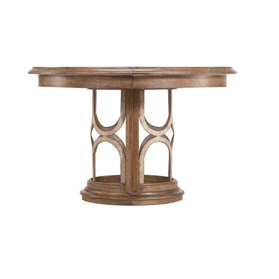 Archipelago Monserrat Round Pedestal Extendable Dining Table Finish: Shoal