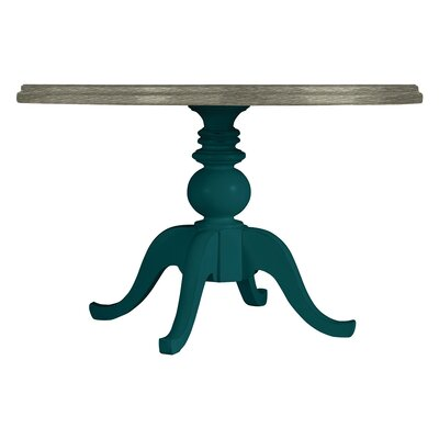 Coastal Living Retreat Round Pedestal Table Wood Top Finish: Belize Teal