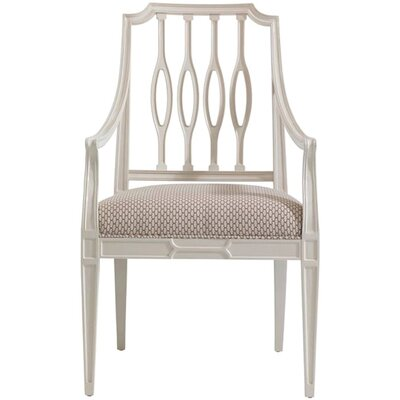 Charleston Regency Arm Chair Arm Chair Finish: Ropemakers White