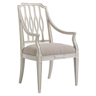 Charleston Regency Upholstered Dining Chair Frame Color: Ropemakers White