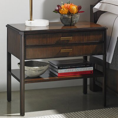 Crestaire Suthbridge 2 Drawer Nightstand Color: Porter