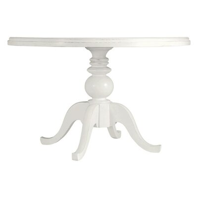 Coastal Living Retreat Round Pedestal Table Painted Top Finish: Saltbox White