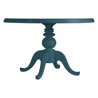 Coastal Living Retreat Round Pedestal Table Painted Top Finish: English Blue