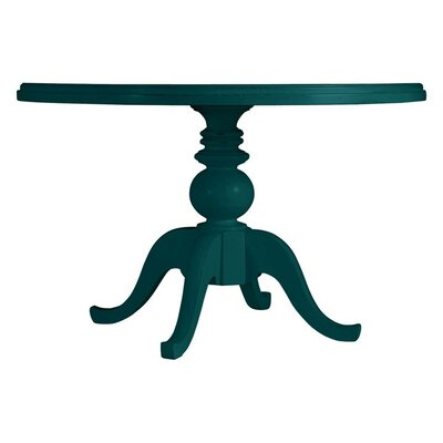 Coastal Living Retreat Round Pedestal Table Painted Top Finish: Belize Teal