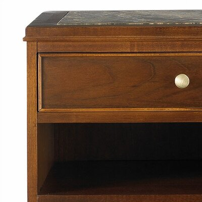 Bad credit financing Hudson Street 1 Drawer Nightstand F...