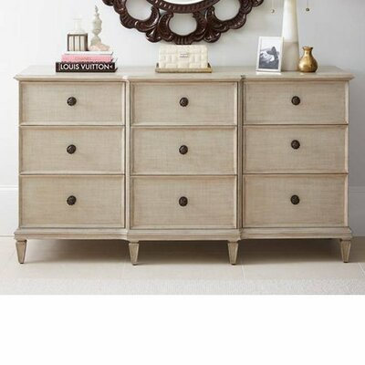 Lucio 9 Drawer Dresser Color: Glaze