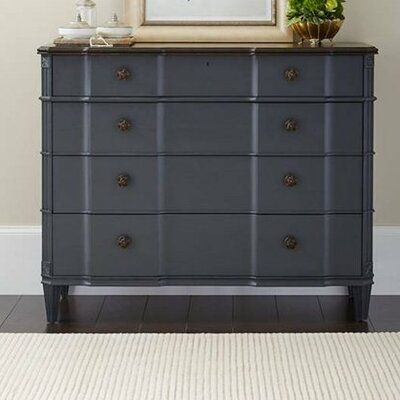 Claudia 4 Drawer Dresser Color: Bluestone