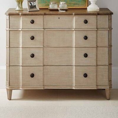Claudia 4 Drawer Dresser Color: Glaze