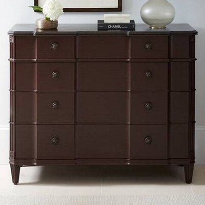 Claudia 4 Drawer Dresser Color: Pomegranate