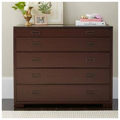 Gaia 5 Drawer Dresser Color: Pomegranate