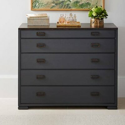 Gaia 5 Drawer Dresser Color: Bluestone