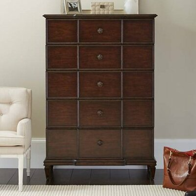 Lucio 5 Drawer Chest Color: Mottled Walnut