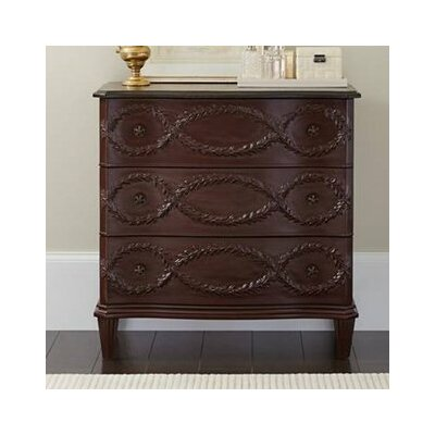 Nicolo 3 Drawer Dresser Finish: Pomegranate