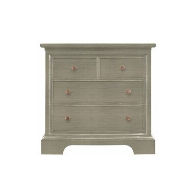 Transitional 4 Drawer Nightstand