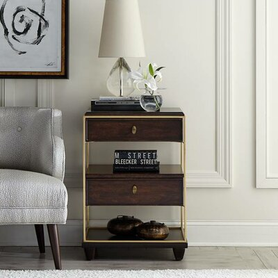 Virage 2 Drawer Nightstand Color: Truffle