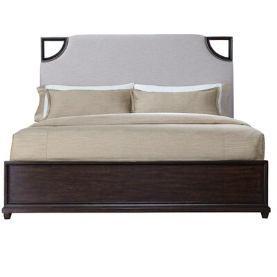 Virage Upholstered Platform Bed Size: King, Finish: Brown