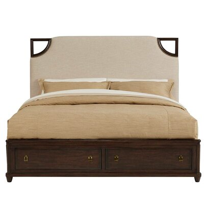 Virage Upholstered Storage Panel Bed Size: California King