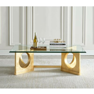 Virage Coffee Table Base Color: Antique Gold