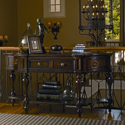 Image of Stanley Grand Continental Console Table in Dark Woodtone (STA4383)