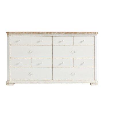 Juniper Dell 8 Drawer Double Dresser Color: 17th Century White